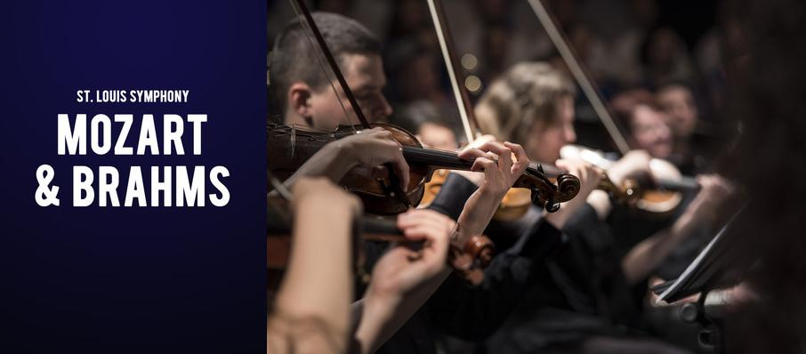 St. Louis Symphony - Mozart and Brahms at Powell Symphony Hall