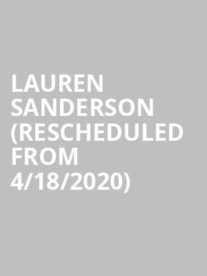 Lauren Sanderson (Rescheduled from 4/18/2020) at Blueberry Hill Duck Room
