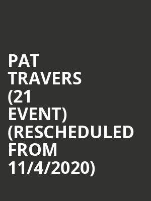 Pat Travers (21+ Event) (Rescheduled from 11/4/2020) at River City Casino