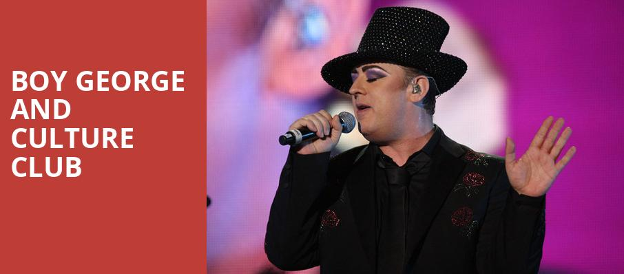 Boy George and Culture Club, Fabulous Fox Theatre, St. Louis