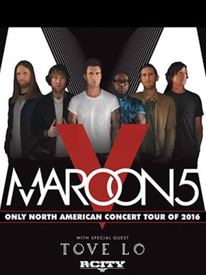 Maroon 5, Tove Lo & R. City Poster